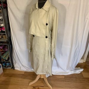 mbyM Penna unlined trench coat. Size Large